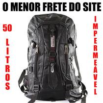 Mochila Escolar Camping Trilha 50 Litros Melhor Frete