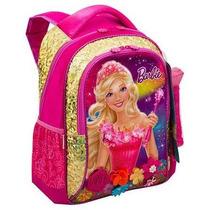Mochila Costas G Barbie E O Portal Secreto Dourada Sestini