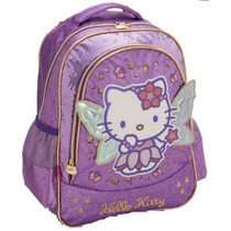 Mochila Costas Alças Hello Kitty Fadas G Pacific