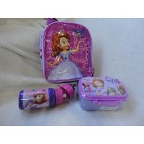 Lancheira Princesa Sofia Térmica 02 Peças Disney Store No Br