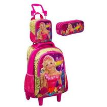 Mochila Rodinhas G Barbie O Portal Secreto +lancheira Estojo