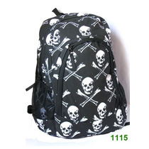 Mochila Escolar /notebook Caveiras,punk, Rock-pronta Entrega