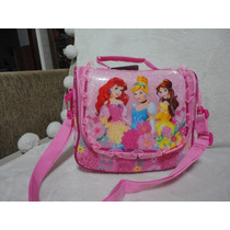 Princesas Lancheira Garrafa Porta Lanche 03 Pçs Disney