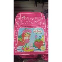 Mochila Escolar Infantil Moranguinhos Ou Peppa Pig