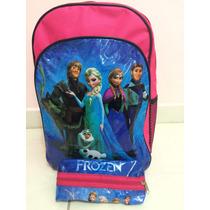 Mochila Escolar Frozen De Costas Grande - Pronta Entrega