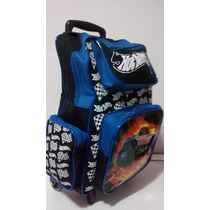 Mochila Escolar Hot Wheels Envio 48 Horas