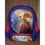 Mochila Escolar Infantil Com Rodinhas Frozen- Anna E Elsa