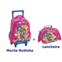 Mochila Patati Patatá, Escolar, Carrinho, Média + Lancheira