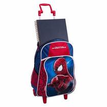 Mochila Escolar Rodinhas G Homem Aranha 2 - Spider Man