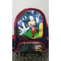 Mochila Mickey Mouse Escolar Rodinhas Pronta Entrega