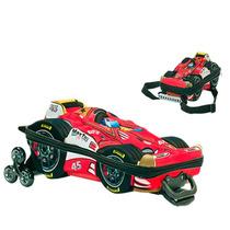Kit Mochila Formula 1 Grande C/ Roda + Lancheira 3d