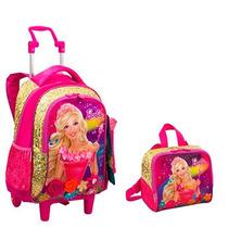 Kit Mochila Barbie Portal Secreto +lancheira - Rodas E Alças