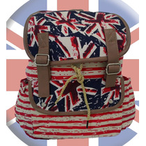 Mochila Bolsa Feminina Estampada Com Bandeira Da Inglaterra