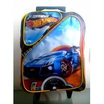Mochila Escolar Com Rodinhas G Hot Wheels - Hotwwliis