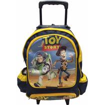Mochila Escolar Menino Toy Story Com Rodinhas