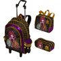 Kit Mochila Monster High C/ Alças ( G )+ Lancheira + Estojo