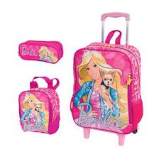 Kit Mochila Barbie ( G ) + Lancheira + Estojo - Coleção 2016