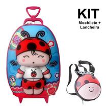 Kit Mochilete 3d + Lancheira Qui Qui Biscuit - Max Toy