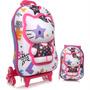 Mochila + Lancheira Hello Kitty Star Roxa Max