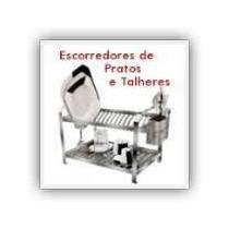 Escorredor Para 20 Pratos Luxo C/porta Talher De Inox Dinox