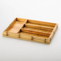 Organizador Para Talheres Bambu - 5 Divisórias - Woodart