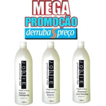 Escova Progressiva Marroquina Inteligente Jolie Kit 3 Litros