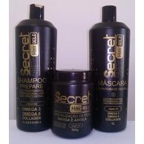 Kit Progressiva Secret Hair Linha Gold *super Promoção*
