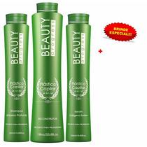 Plástica Capilar Beauty Progress Kit Com 3 Produtos +brinde