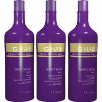 G Hair Alemâ Perfect Blond Progressiva ( Kit 3 X 1 Litro )