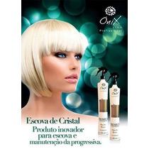 Escova De Cristal Cabelos Baixa Volume Onix Liss 500ml