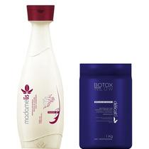 Kit Madamelis Shampoo 1 L + Botox Matizador Madame Lis 1 Kg