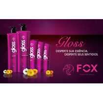 Fox Gloss - Escova Progressiva,semi - Definitiva,100% Liso
