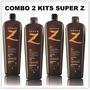 Combo 2 Kits Escova Progressiva Super Z | Plástica Dos Fios