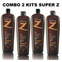 2 Kits Escova Semi Definitiva Super Z