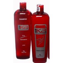 1ka Steel Alinhamento Natural S/ Formol + Shampoo Pré Lt.