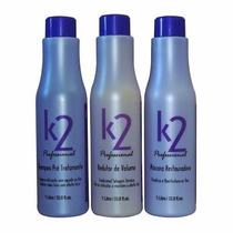 K2 Redutor De Volume Escova Progressiva - 3x1000 Ml