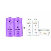 Kit Escova Progressiva Shine Hair Plus + Kit Manutenção Grts