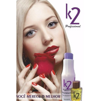 Redutor De Volume+shampoo+máscara 1000ml K2 Cosméticos