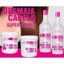 Kit Desmaia Cabelo -escova+realinhamento+ Máscara