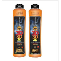 Escova Definitiva 3d 2x1000ml Gold Show Premium