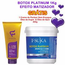 T-suka Platinum Btox Matizador 1kg + Shampoo Grátis