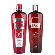 Kit Shampoo 1l + Progressiva 1ka Steel 1l * (sem Formol) Top