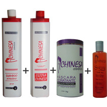 Progressiva + Hidratante De Vinho Terapia + Protetor Térmico