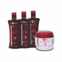 4 Produtos Top Kit Bionative Cabelos Quimicamente Tratados