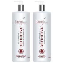 Escova Progressiva Definitiva Hair System Premium + Leave In