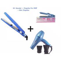 Kit Mini Chapinha +secador 2500w+chapinha Nano Titanium Pro