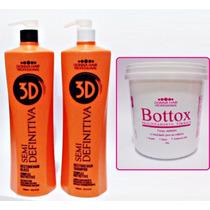 Escova 3d Semi Definitiva + Botox Donna Hair