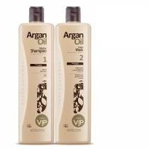 Kit Escova Progressiva Vip Argan Oil 1000 Ml + Brinde