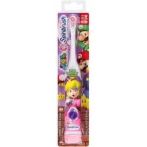 Escova De Dentes Eletrica Infantil Princesa Peach Super Mari