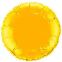 Balão Redondo Dourado 45cm Kit C/ 10 Unidades - Vazios